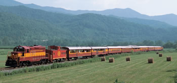 Image of the Smokey Mountain Railroad.